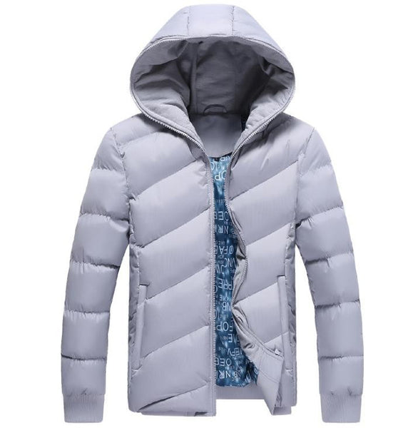 Varm 'Dunjakke' til mænd i LYSEBLÅ - Men Winter Korean Style Jacket