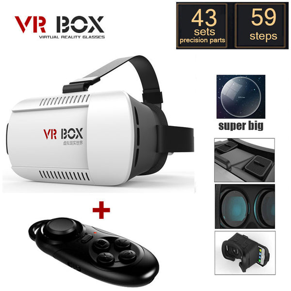 Virtual Reality briller til Android - Google cardboard Virtual Reality Glasses + Smart  Bluetooth Wireless Mouse / Remote Control Gamepad
