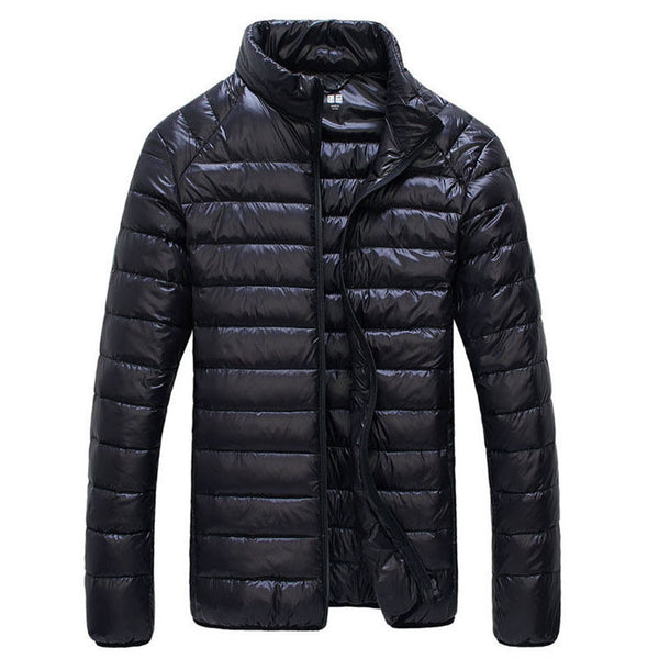 Super Let 'Dunjakke' i SORT - Ultralight Men Winter Jacket