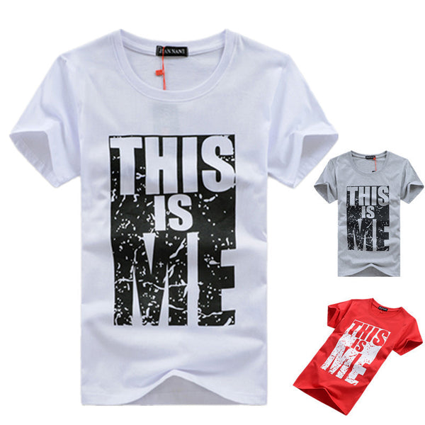 THIS IS ME T-Shirt til Mænd - 95% Cotton Print Men T-shirt Homme Camisetas