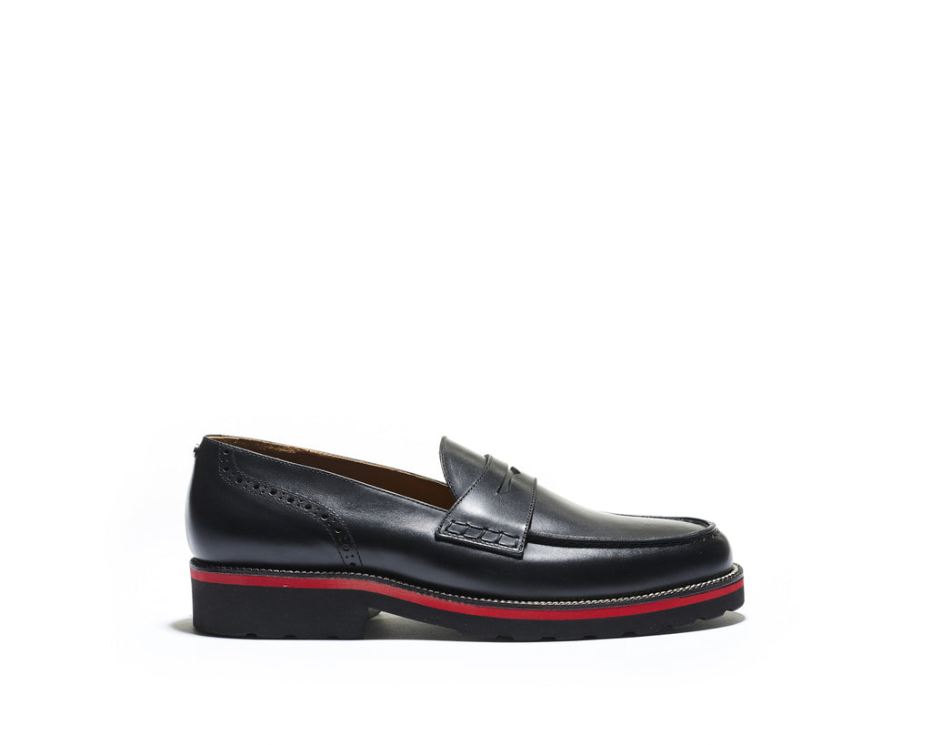 B1611015 - Penny Loafer men shoe (London) - Black