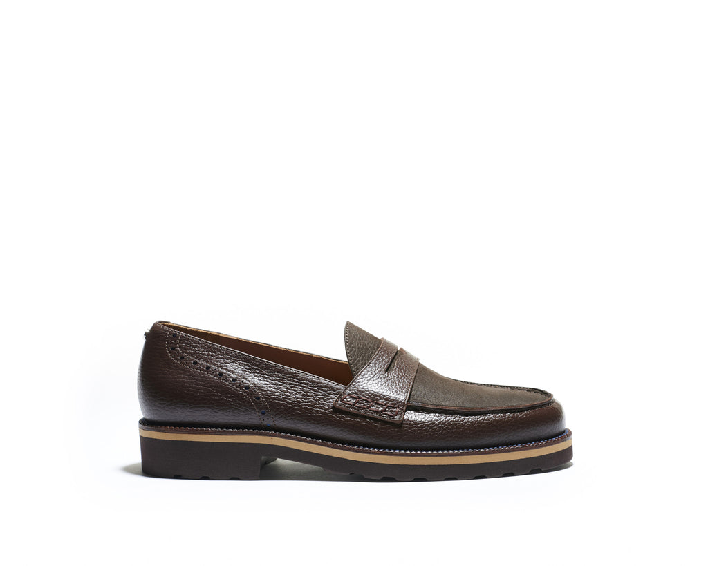 B1611015 - Penny Loafer men shoe (Nabuck Sporty) - Black