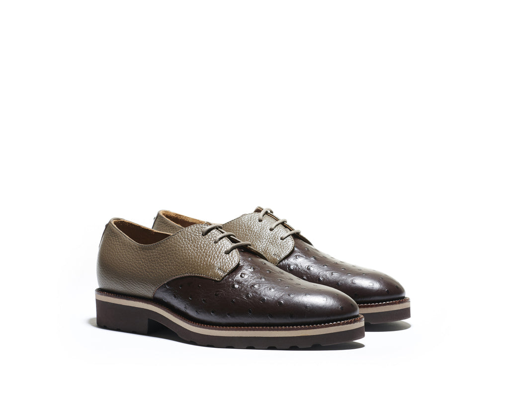 B1611005 - Plain Toe derby men shoe (Embossed) - Fango