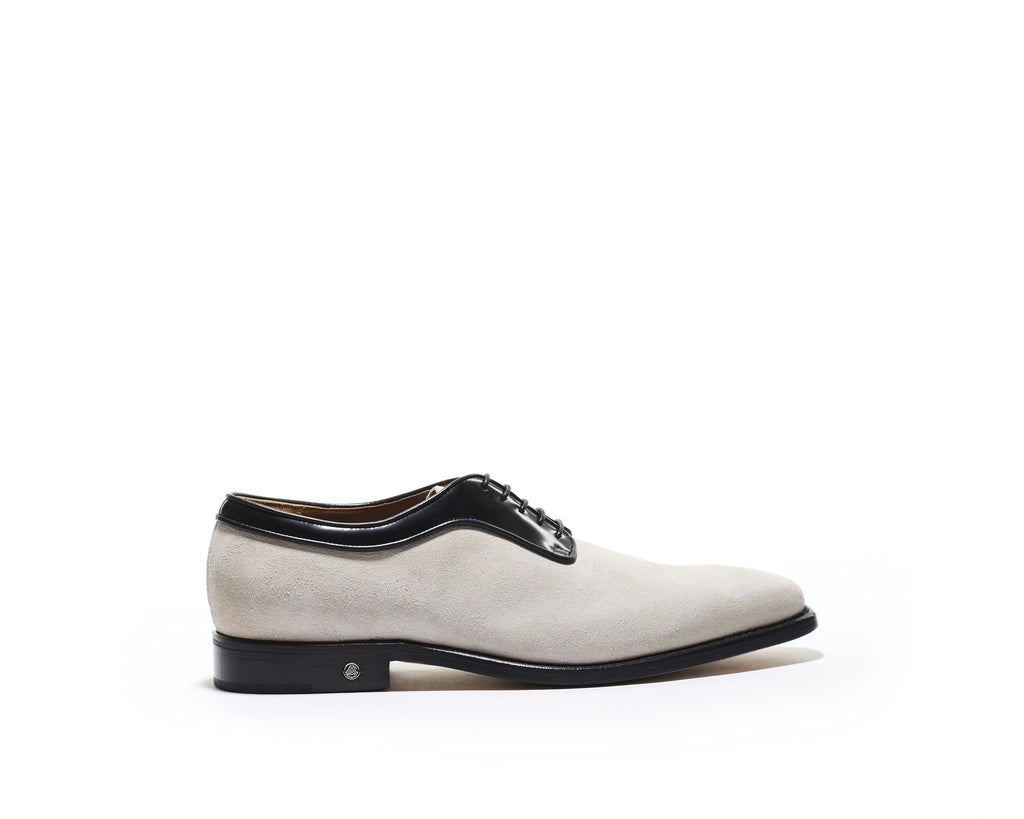 B1611008 - Plain toe derby men's shoe (vesuvio & gardenia) - Lamb
