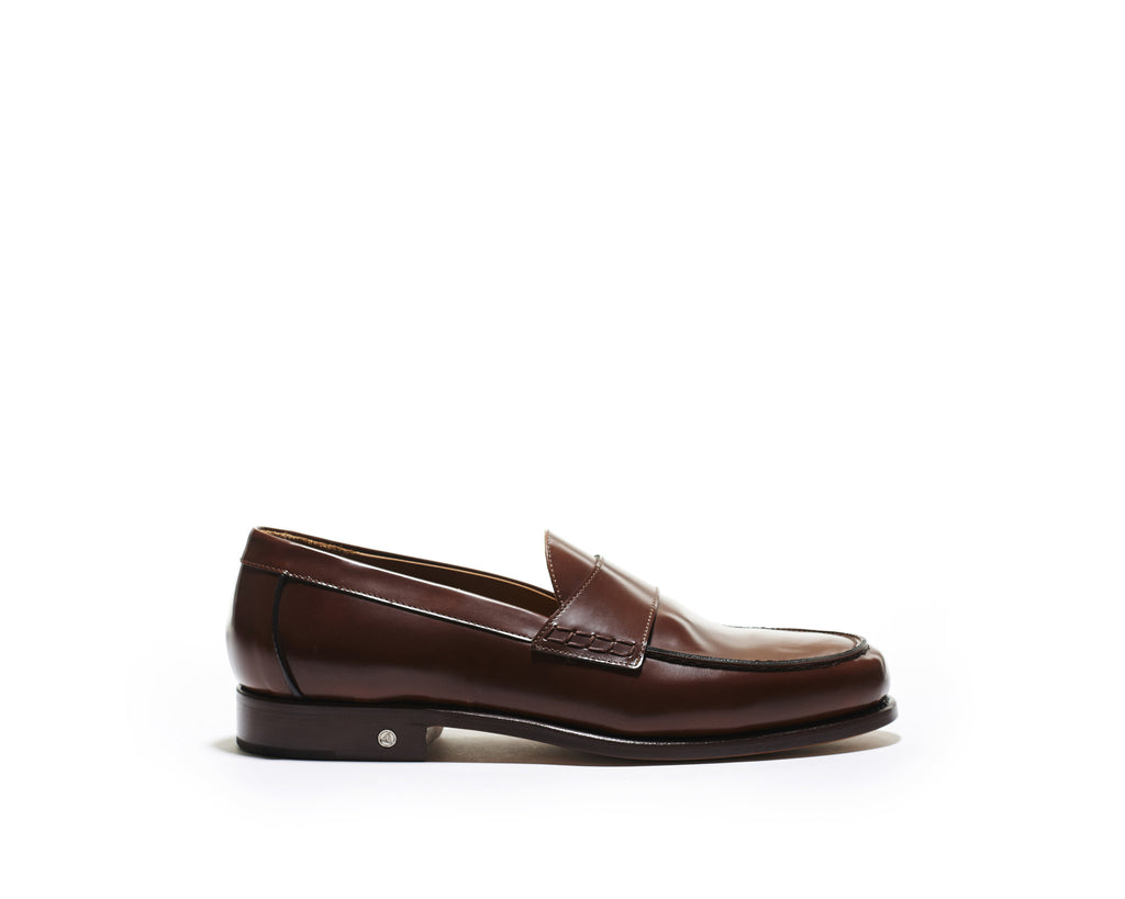 B1611012 - Penny Loafer Men shoe (city brush off) - Brown