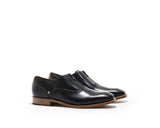 B1611013 - Oxford with Zip men shoe ( London) - Black