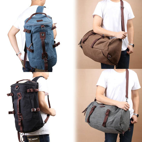 High Quality Men Vintage Canvas Gym Bag, Backpack,  Laptop Carrier, Duffle Bag