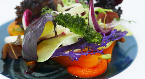Pollen Street Social: British garden vegetable salad