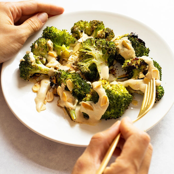 Tahini Garlic Broccoli
