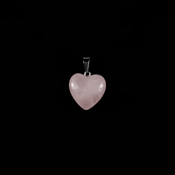 Heart Rose Quartz Gemstone Pendant