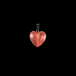 Heart Natural Strawberry Quartz Gemstone Pendant