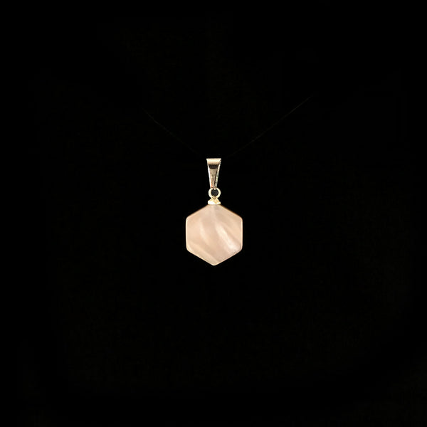 Honeycomb Mother of Pearl Shell Gemstone Pendant