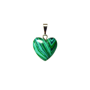 Heart Malachite Gemstone Pendant