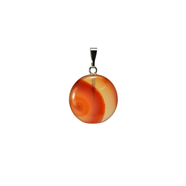 Round Natural Agate Gemstone Pendant