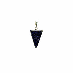 Triangle Blue Goldstone Gemstone Pendant