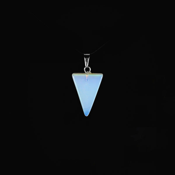 Triangle Opalite Gemstone Pendant [1 of 1]