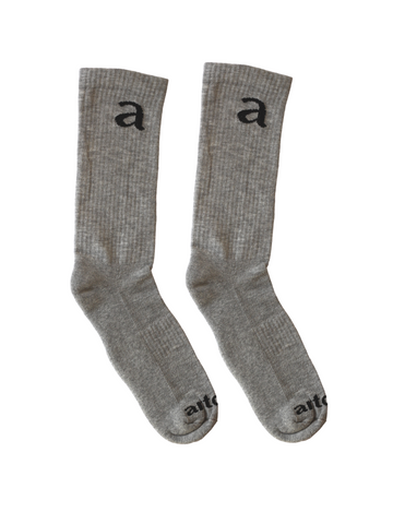 Grey Crew Socks - Artclub and Friends