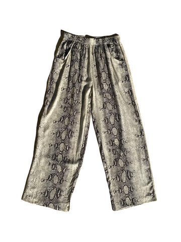 Snake Wide-leg Elasticated Trouser