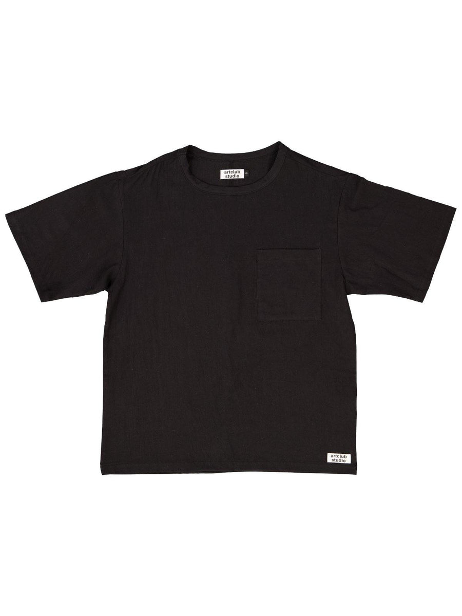 Woven Tee Black - Artclub and Friends