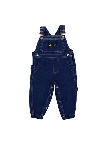 Kids Topstitched Indigo Dungaree
