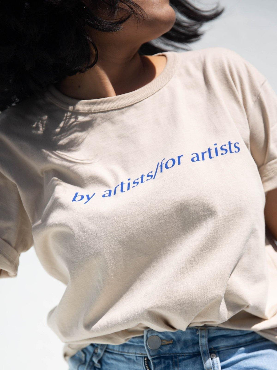 Loud Branding Tee Beige - Artclub and Friends