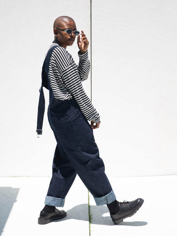 Indigo Denim Dungarees - Artclub and Friends
