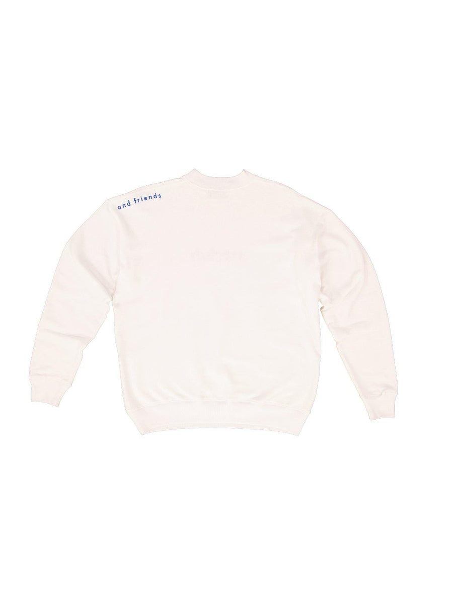 Embroidered Logo Sweater White - Artclub and Friends