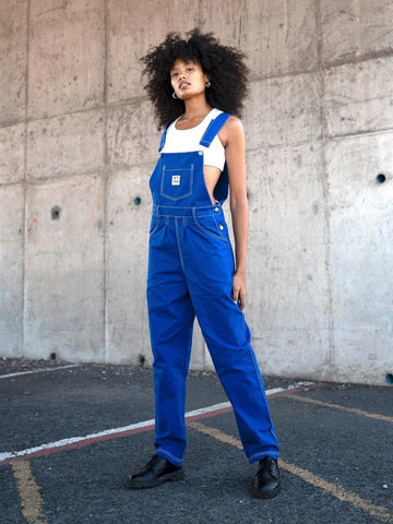 Topstitched Royal Dungaree - Artclub and Friends