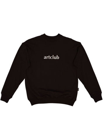 Embroidered Logo Sweater Black