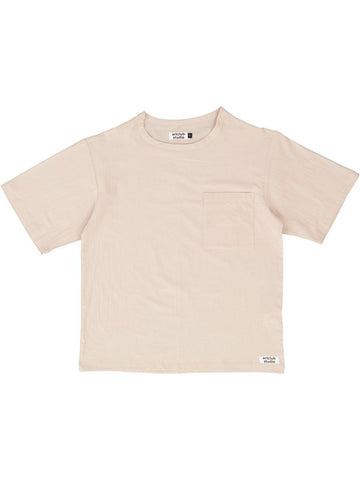 Woven Tee Taupe