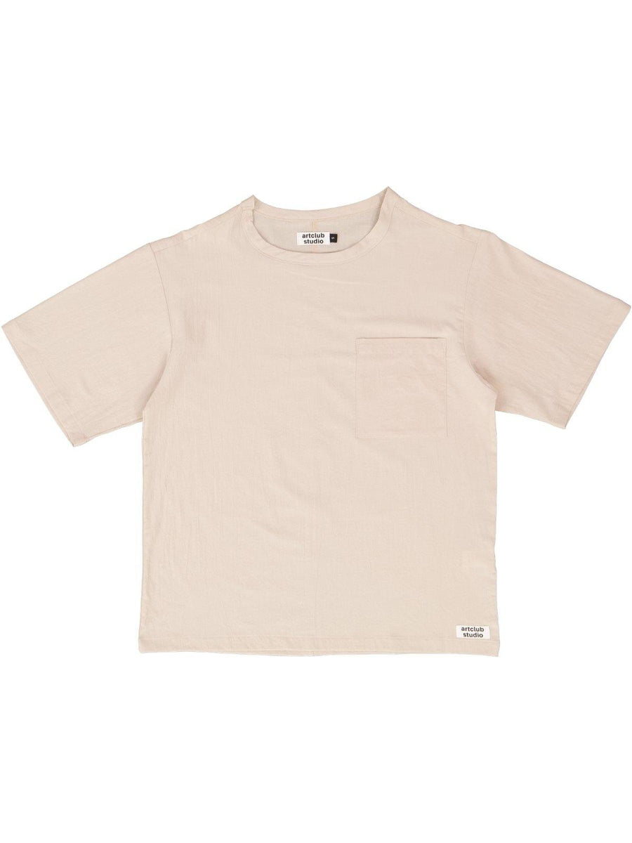Woven Tee Taupe - Artclub and Friends