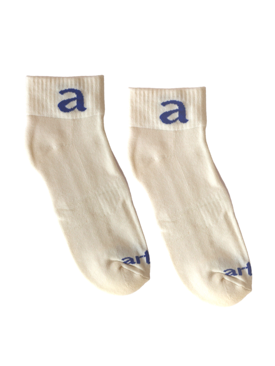 Cream Ankle Socks