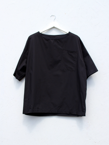 Woven Tee -Black (Sample)
