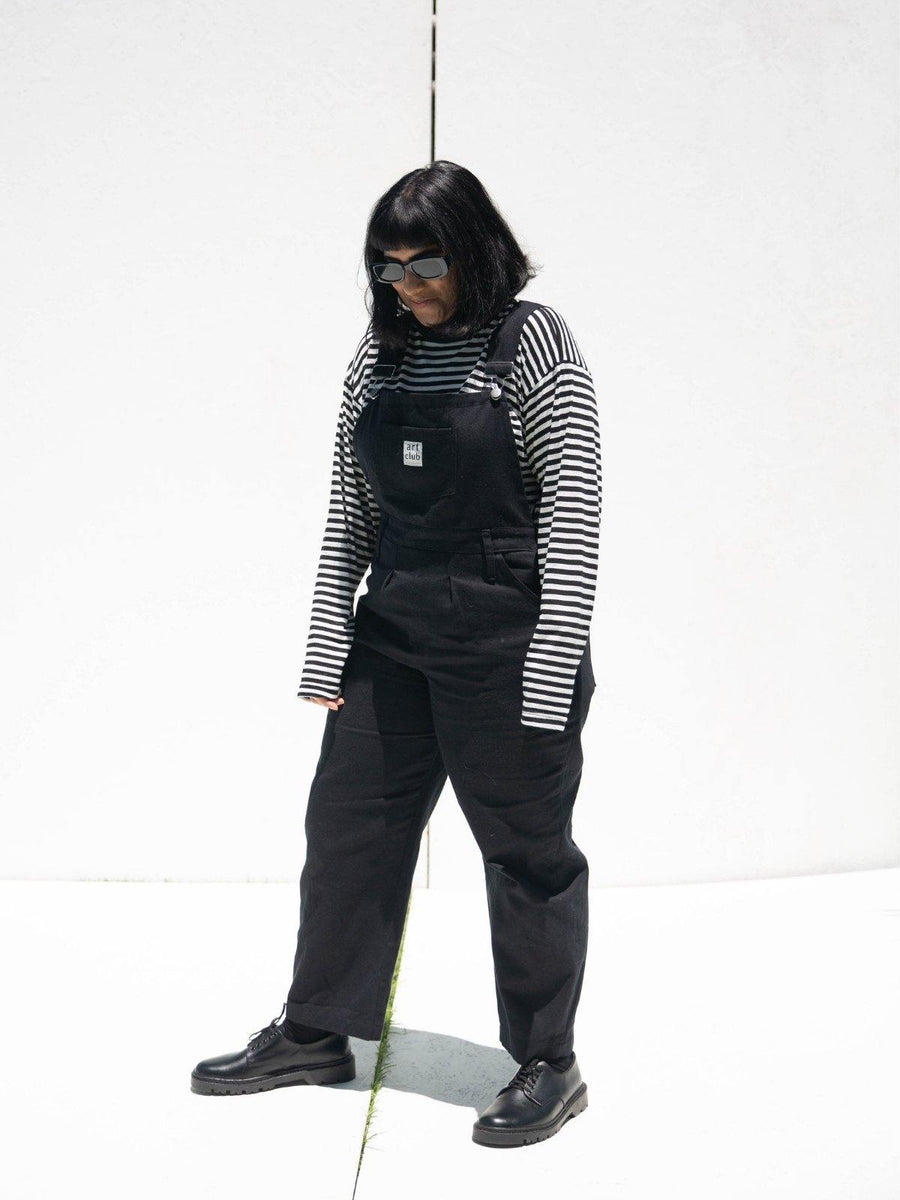 Black Denim Dungarees - Artclub and Friends
