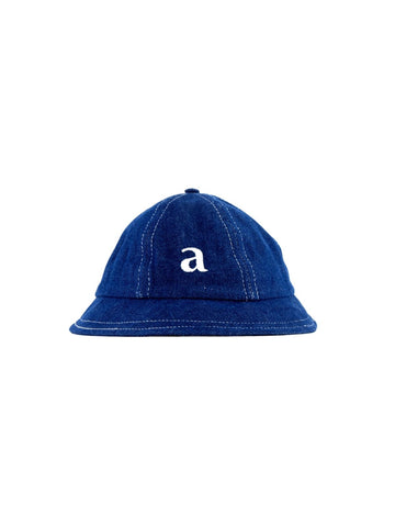 Kids Topstitched Indigo 6 Panel