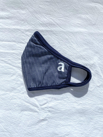 Navy Stripe Mask