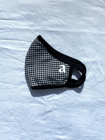 Black Gingham Mask - Artclub and Friends