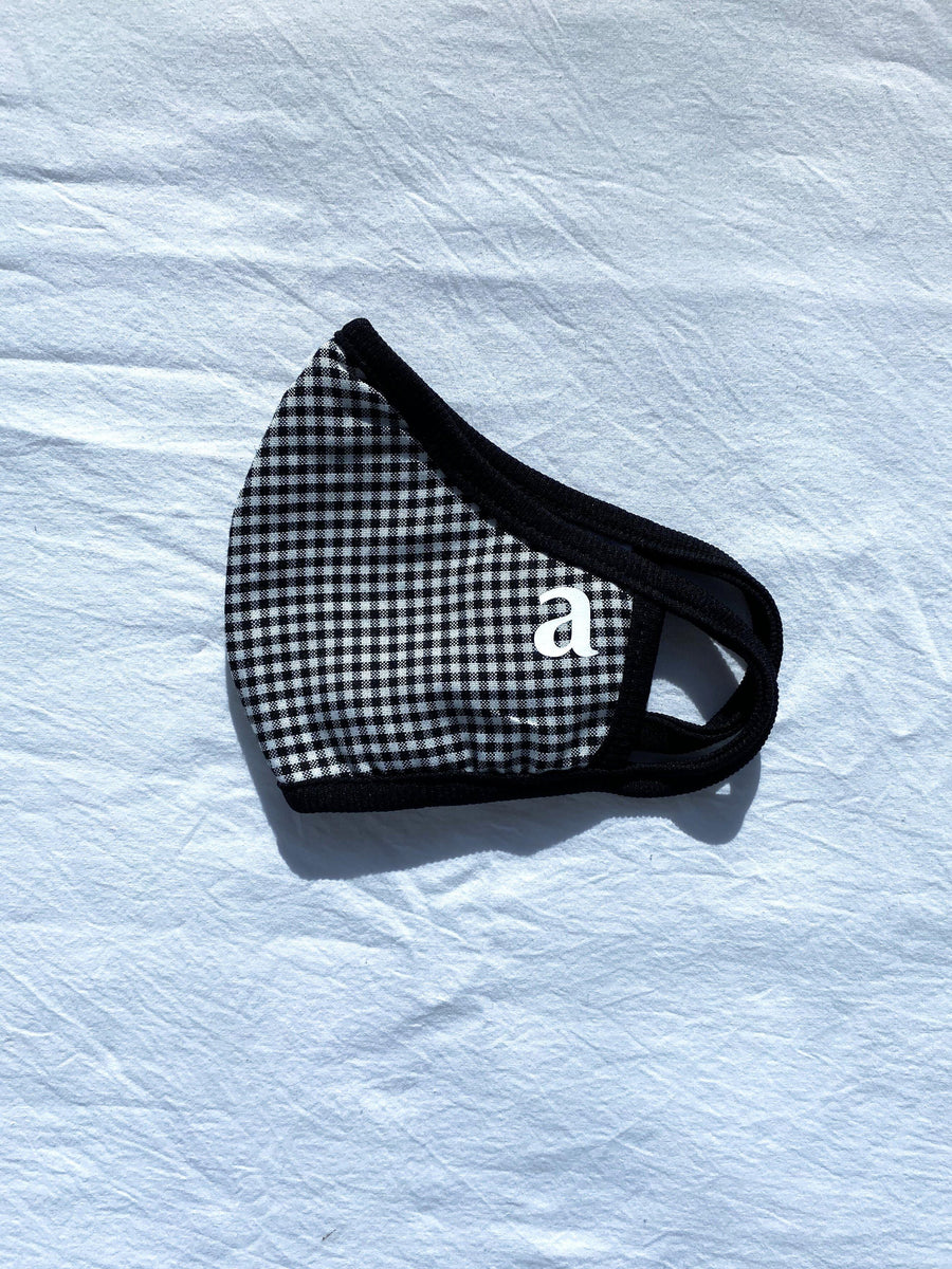 Black Gingham Mask
