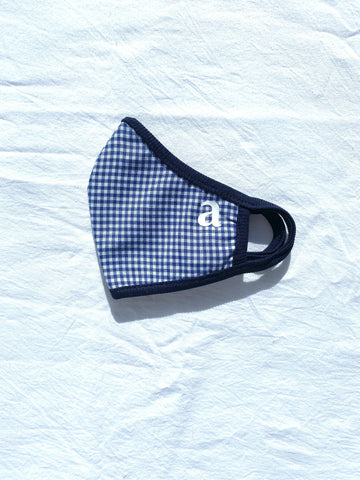 Blue Gingham Mask