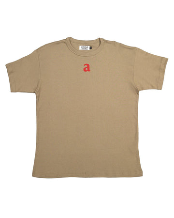 Logo Tee- Olive & Red - Artclub and Friends