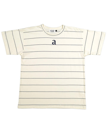 Logo Tee- Stripe - Artclub and Friends