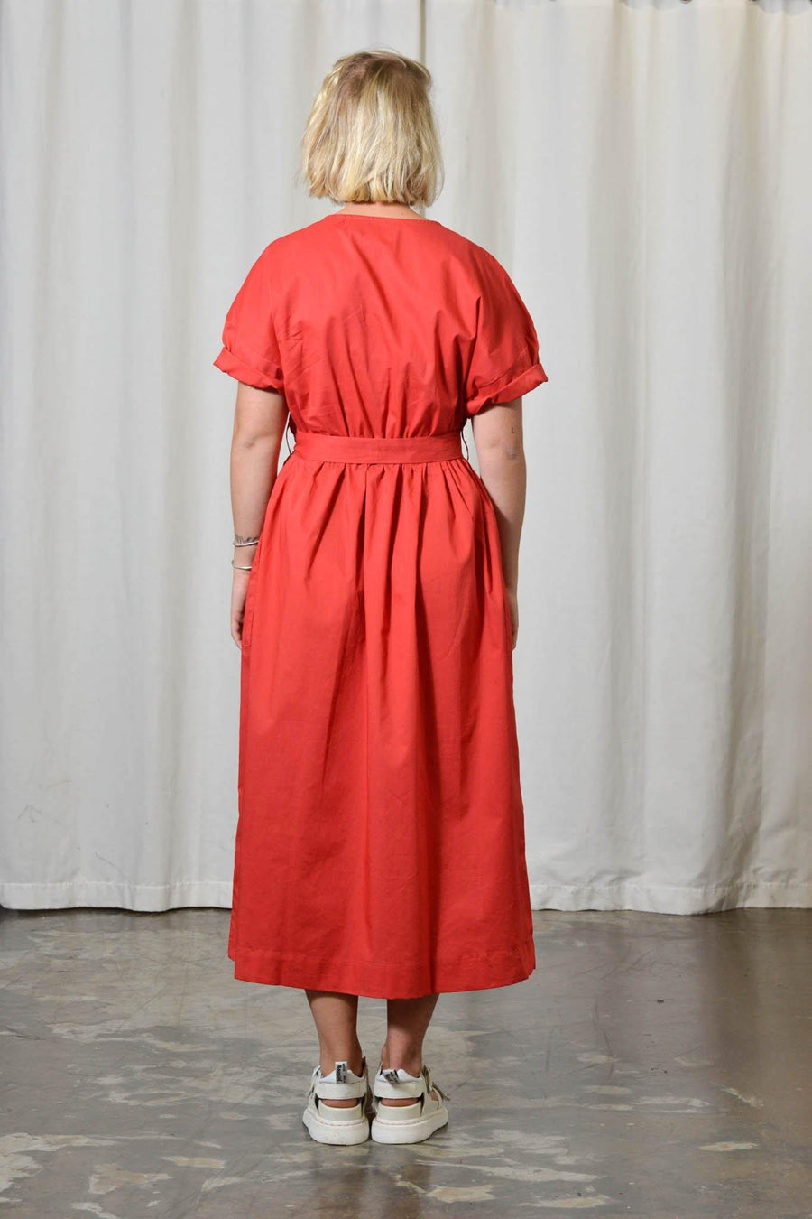 Red Studio Dress - Artclub and Friends