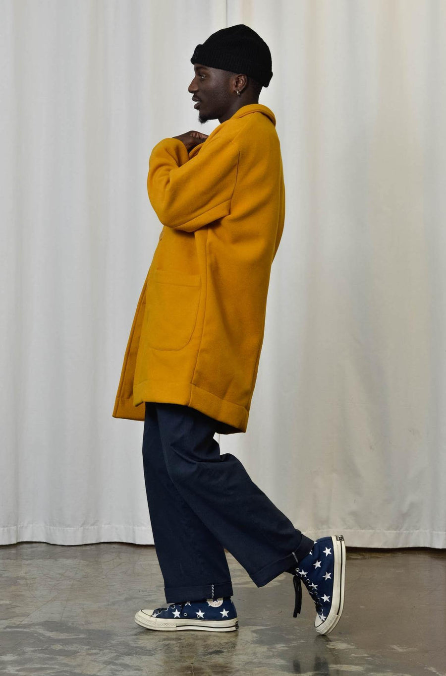 Unisex Coat in Mustard - Artclub and Friends