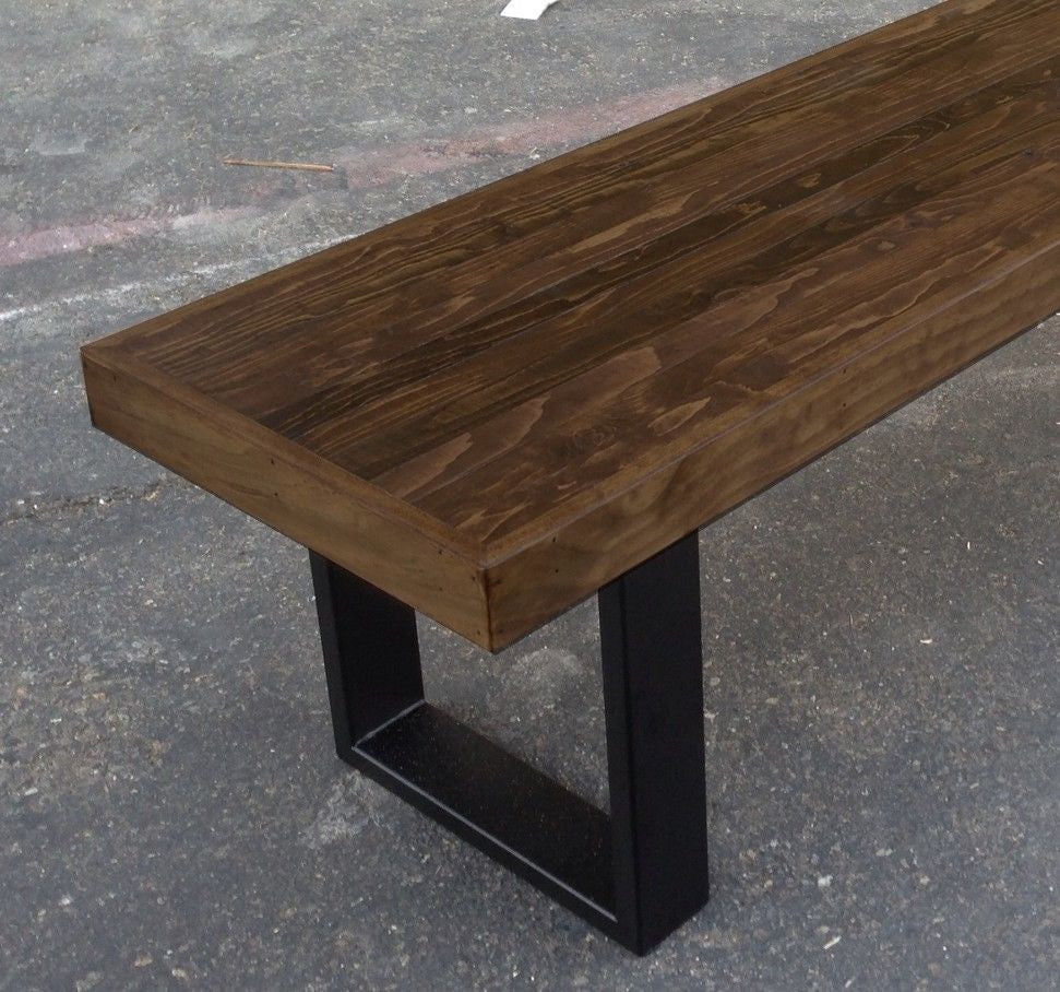 home bench scroll at steel black