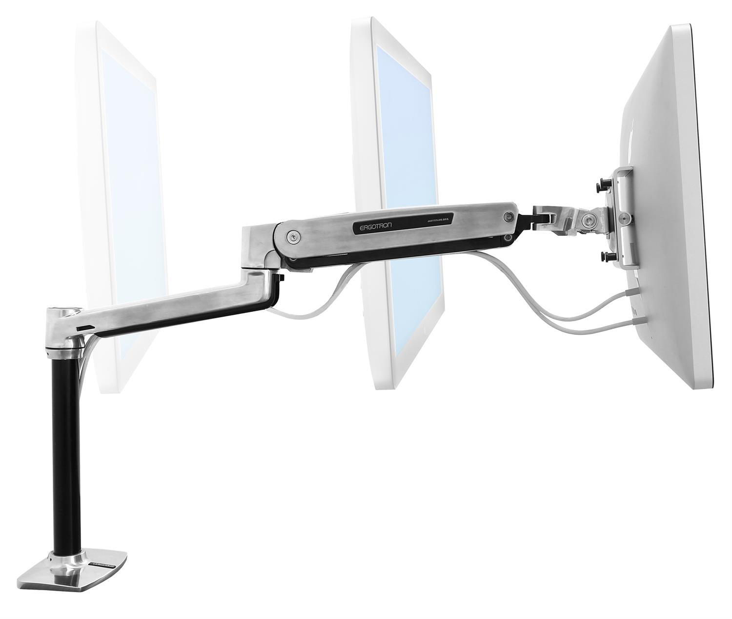 New Ergotron Lx Hd Sit Stand Desk Mount Monitor Arm Ebay