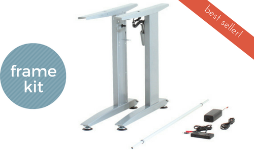 Conset Electric Standing Desk, Frame Kit, White or Silver, 501-15 ...