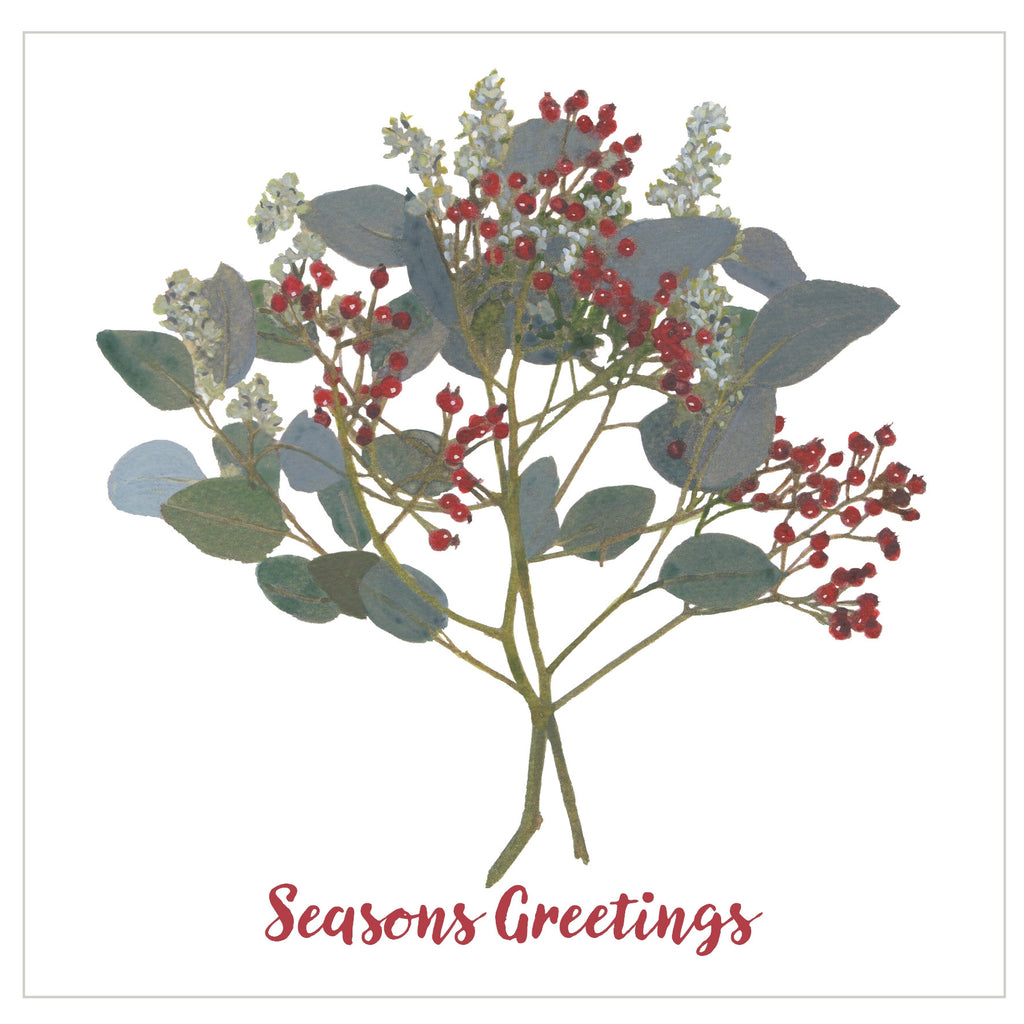 Lush Berries : Pack of 10 Christmas Cards