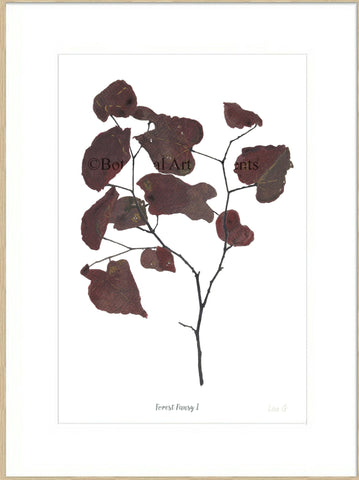 Forest Pansy I : Signed, Mounted Print