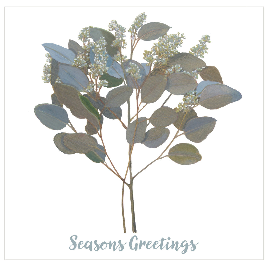 Silver Spray : Pack of 10 Christmas Cards