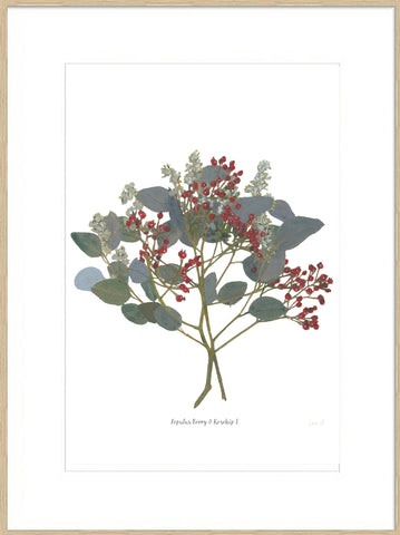 Signed, Mounted : Populus Berry & Rosehip I